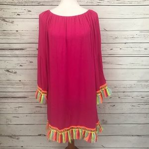 Velzera Long Sleeve Tunic with Tassels Size 1X